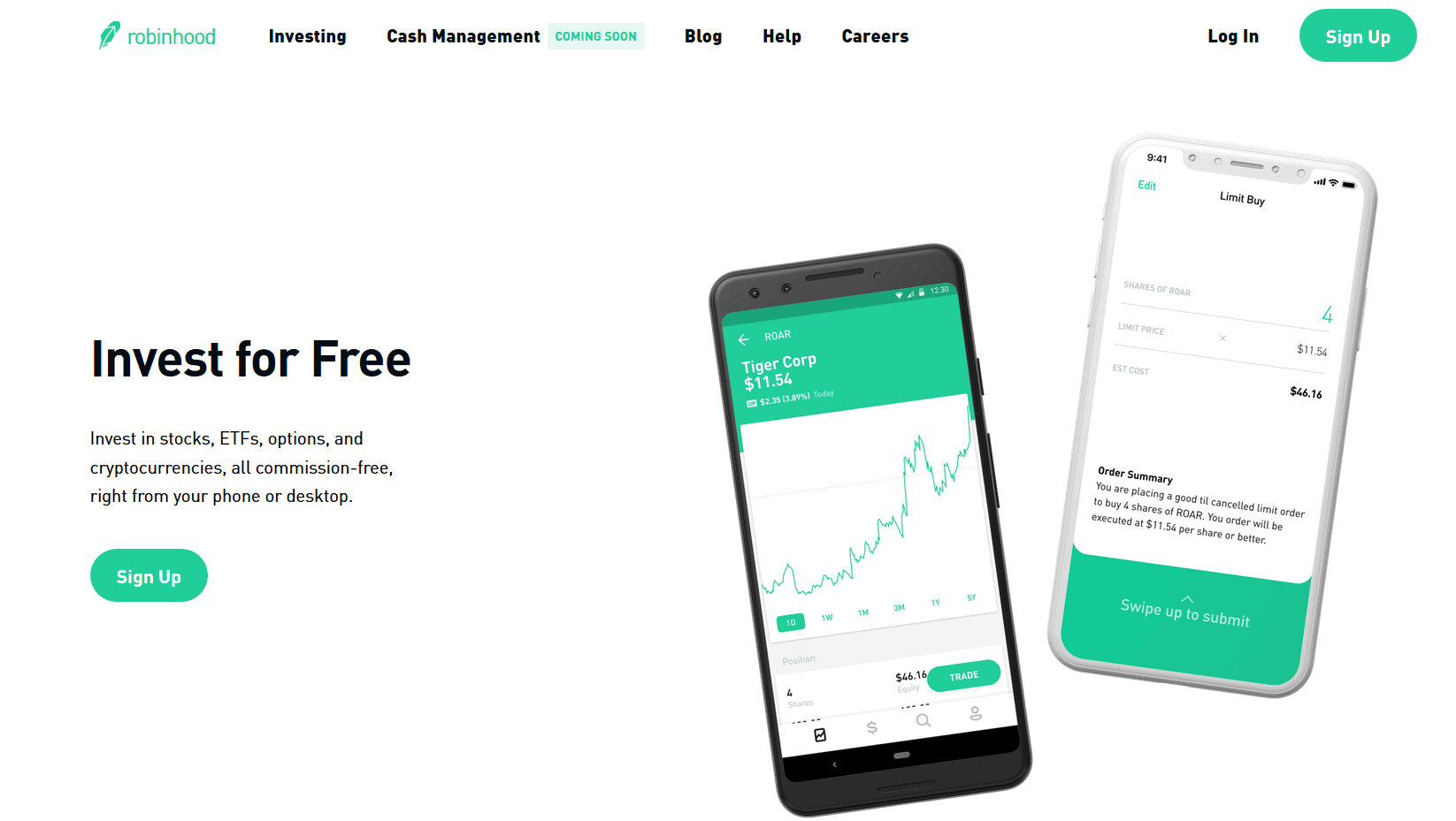 1 Year Warranty Commission-Free Investing Robinhood